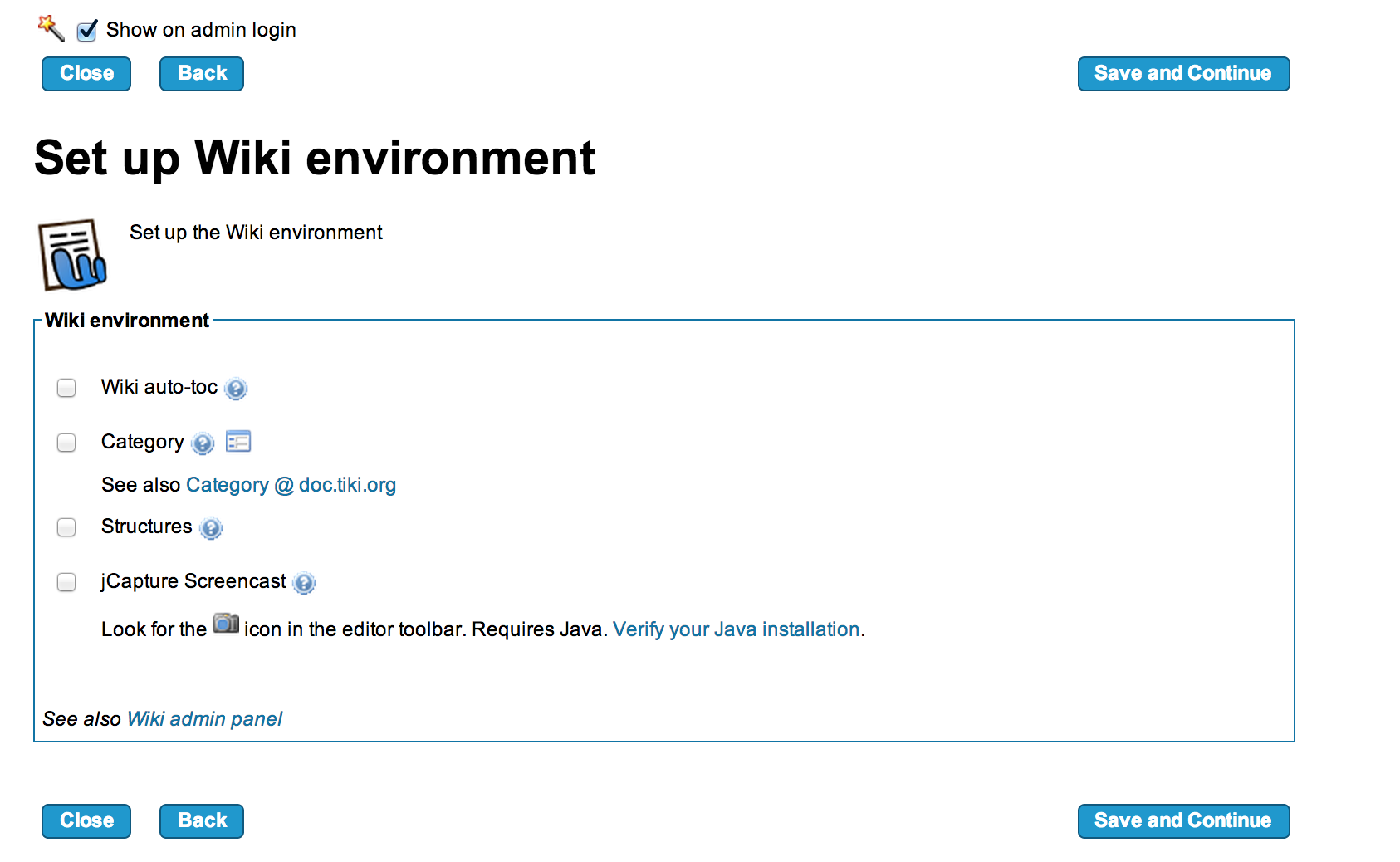 Setup Wiki Environment