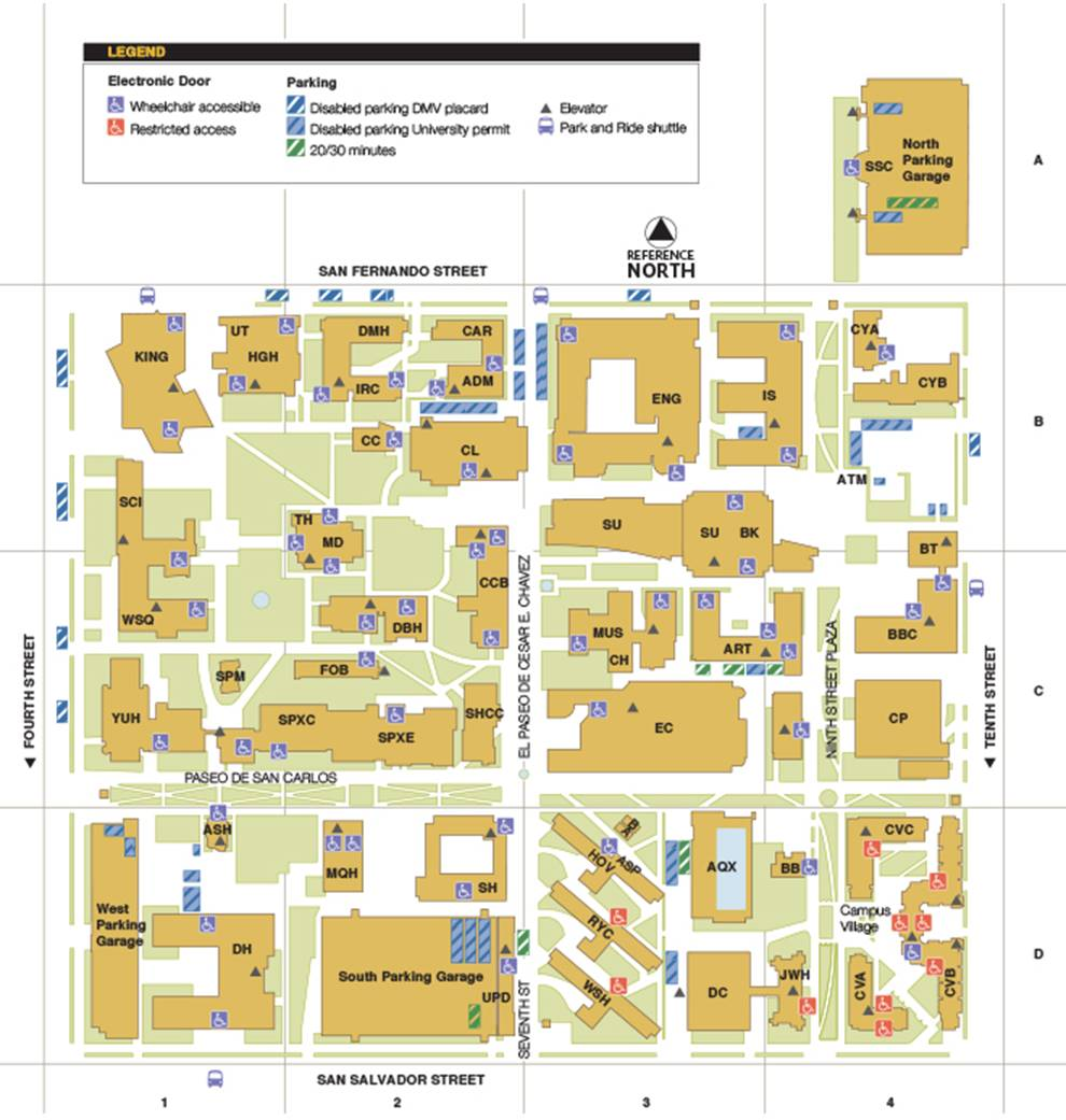 map of sjsu campus Life At Sjsu map of sjsu campus